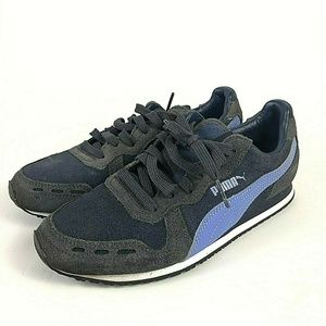PUMA Women LIFESTYLE ROMA Sneakers Blue Suede 4.5
